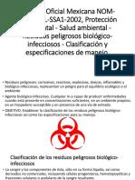 NORMA Oficial Mexicana NOM-087-ECOL-SSA1-2002, Protección Ambiental