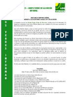 Los Verdes Informan Candidatura