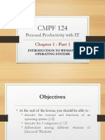 CMPF124 Chap 1 - Intro to Windows OS Pt 1