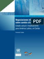 Negociaciones internacionales sobre cambio climático