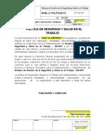 PLT-SST-001 Política de Seguridad y Salud en el Trabajo.docx