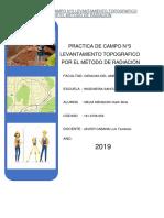 Informe de Topografia-metodo de Radiación