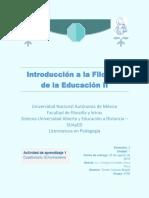 INTRODUCCIÓN A LA FILOSOFÍA DE LA EDUCACIÓN 2