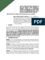 Solicita Pago de Bonificación Diferencial 30% Gremial de Febrero Del 2019