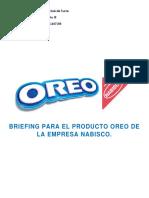Briefing para la marca Oreo de la empresa Nabisco Melany Arzola