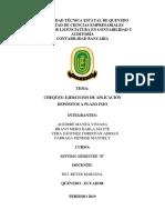 Ejercicios de Cheques- Depositos a Plazo Fijo