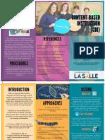 Content-Based Instruction (CBI) Ingrid Bendek -Julie Diaz