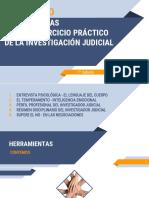 Diplomado en Herramientas Para El Ejercicio Práctico de La Investigación Judicial - Clases 1 y 2