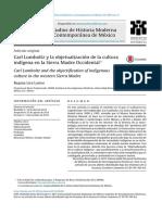 Carl Lumholtz y La Objetualización de La Cultura Indígena