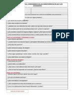 Ficha de Conocimiento de Las Características de Las y Los Estudiantes