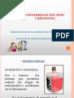 bioseguridad LABORATORIO BIOQUIMICA