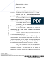 Fallo de Servini de Cubría sobre difusión de resultados provisorios de las PASO