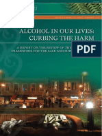 Alcohol in Our Lives: Curbing the Harm, 2010