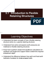 flexible retaining structure