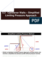 5.3 Cantilever Walls - Simplified Limiting Pressure Approach