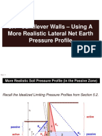 5.4 Cantilever Walls - Using a More Realistic Lateral Earth Pressure Profile