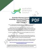 KAPS Exam Paper for Australian Pharmaceutical Council Exam