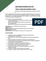 Job Description - IsS Intern - CTS