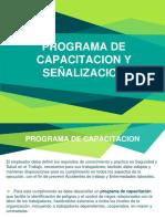 PROGRAMA DE CAPACITACIÓN Y SEÑALIZACION SST
