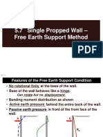 5.7 Single-Propped Wall - Free Earth Support Method