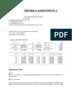 Econometrics Assignment 3.Docx