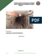 mineria subterranea aplicaciones