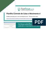 Planilha Controle Caixa Movimento Diario Gratis