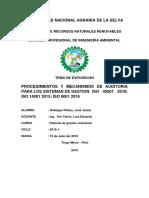 Procedimientos y Mecanismos de Auditoria Para Los Sistemas de Gestion Iso 45001 2018; Iso 14001 2015; Iso 9001 2016
