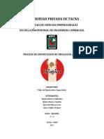 Plan de Exportacion de CHULLO de ALPACA