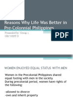 Reasons Why Life Was Better in Pre Colonnial Philippines