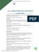 Rate Strategy Configuración y Demostración en Opera PMS – Opera PMS