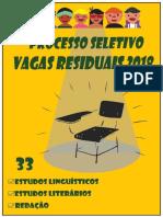 V RESIDUAIS 2018 - Cad 33.1 (Estudos Linguísticos e Estudos Literários)