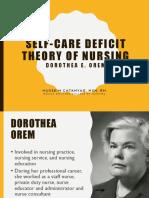Orem's Self- Care Deficit Model