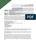 Healthcare Analytics Syllabus