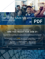 Gen z the Future Has Arrived Executive Summary
