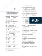 English Test II Modal Verbs