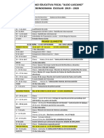 Cronograma UEFAL 2019 - 2020