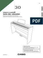 Manual de usuario Casio Privia PX730