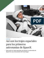 Traje Espacial Para Los Astronautas de SpaceX 78955