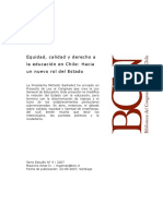 Calidad, Equidad y derecho a la educacion en Chile.pdf