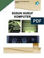 modul susun huruf komputer