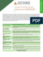 Programme m1-m2 2018-2020 Finance App