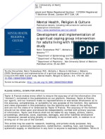 Development and implementation of a spiritual coping group