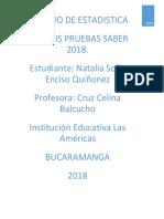 Analisis Estadistico Pruebas Saber 2018