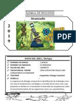 Syllabus de Biologia Avanzado Del III Bimestre