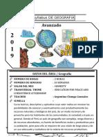 Syllabus de Geografia Avanzado Del III Bimestre