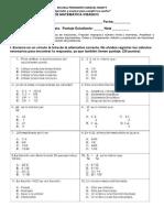 Prueba de Matemática 5ºbásico