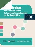 Estadísticas de La Población Adolescente en La Argentina