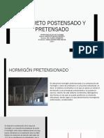 Presentación - Arq. en Concreto - Est. Camila Peña - Tema CONCRETO POSTENSADO Y PRETENSADO