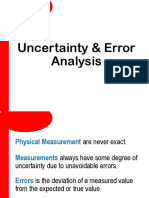 2. Uncertainty Error Analysis